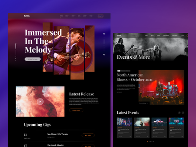 Music Band -Template Design branding user experience interaction hero section web making band music hero webdesign webpage layout website template ux graphic design ui design