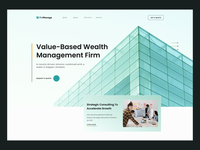 Finance Header Explore template ux hero section header landing page website branding ui graphic design art design