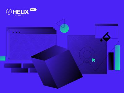 Helix Ultimate Update update ux vector ui logo illustration flat branding art graphic design design