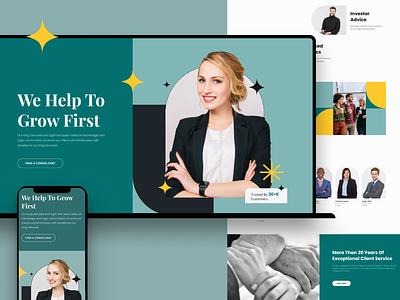 Consultancy Firm- Layout Bundle firm finance consultancy form contemporary mockup template website design ux vector ui illustration flat art branding graphic design design
