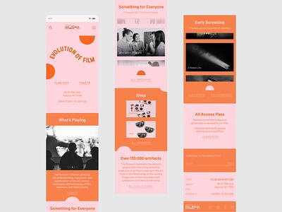 Mobile Web Design: Museum of Moving Image design mobile ui flat mobile website design mobile web ux ui minimal