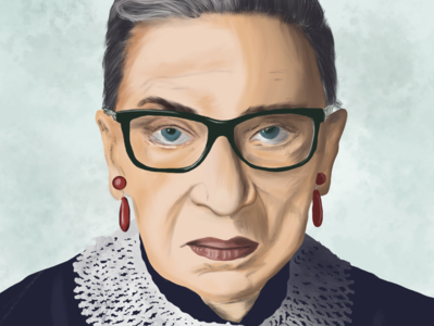 Ruth Bader Ginsburg procreate digitalart potrait illustration digital painting illustration