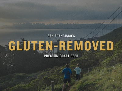 Sufferfest beer - Image concept and typography selection gluten-removed craft beer san francisco typography