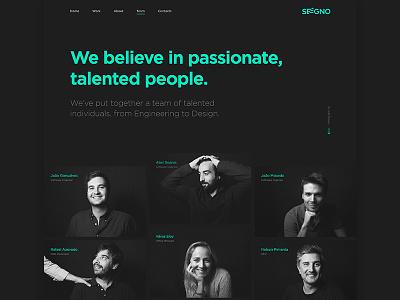 Seegno website portugal team seegno