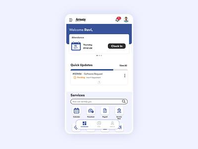 Amway Intranet Dashboard Mobile app ux ui flat design dashboard ui