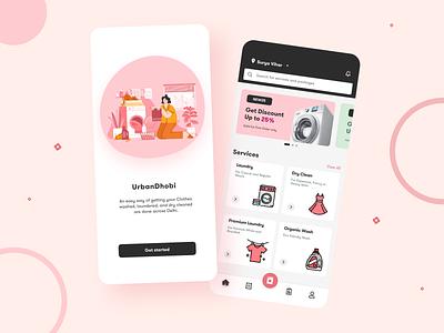 Laundry Service App Design animation app ux ui design