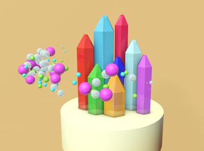 Emeralds render creative illustration design cinema4d after effects