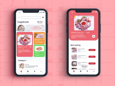 Zappfresh - Landing and Product page ux branding ui colorful flat web typography illustration dribbble best shot design