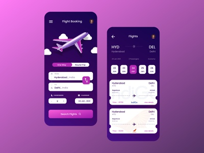 Flight Booking UI graphicdesign app design uidesign app ux ui colorful illustration typography flat web dribbble best shot design