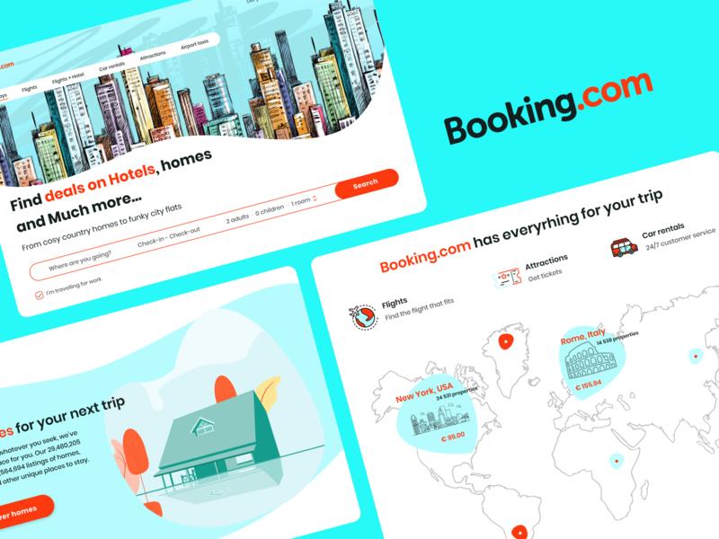 Booking redesign redesign web site design ux ui design ui ux booking
