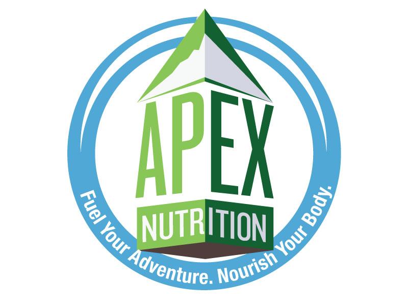 Apex Nutrition logo vector illustrator books mountain nutrition badge