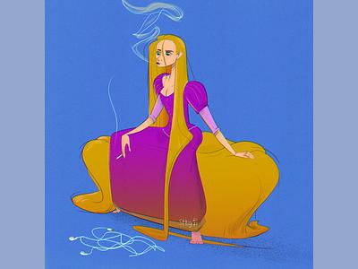 Tangled characterdesign character visualdesign photoshop illustration