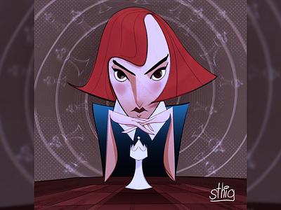 The Queen's Gambit queen chess visualdesign vizdev visualdevelopment characterdesigns