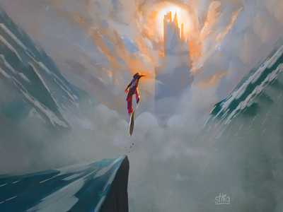 Leap of Faith background design characterdesign illustration visualdevelopment environment background
