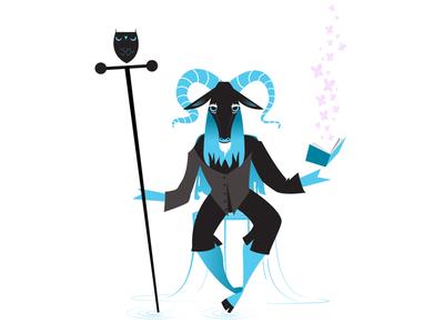 Storyteller hoofs magic horns owl vector fountain alabama birmingham goat