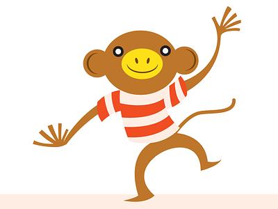 Chimp cute sailor primate chimp monkey dance
