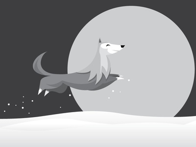 Wolf noir seasons fun play dog winter snow wolf