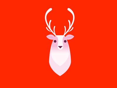 Deer rudolph sled santa reindeer christmas xmas deer