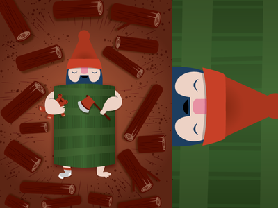 Cuttin' Zs gnome beard sleep teddy bear lumberjack lumber logs