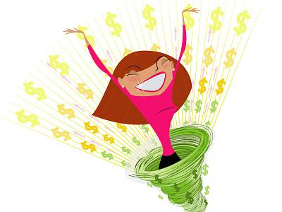 American Bar Association Illo vector illustration financial money lawyer business