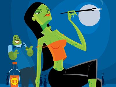 Creatures From The Black Lagoon 60s retro futuristic smokes isaac spooky creature lagoon