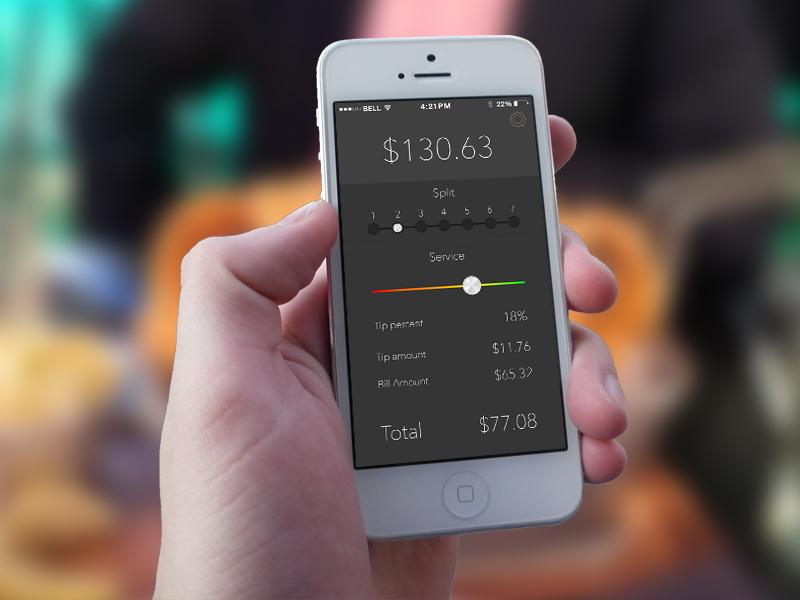 My First App - A tip calculator by Ben Samelak | Dribbble