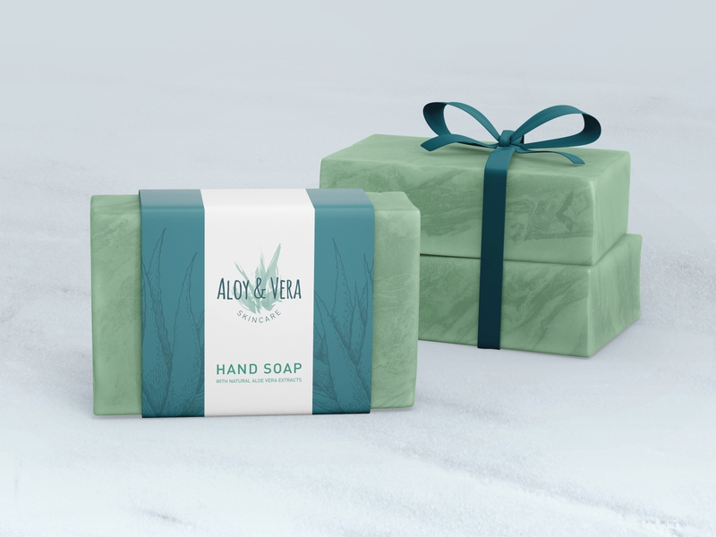 ALOY & VERA / Soap Packaging