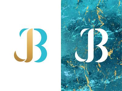 JESSICA BAYLE / Monogram design logo design weekl illust gold blue letter monogram logo