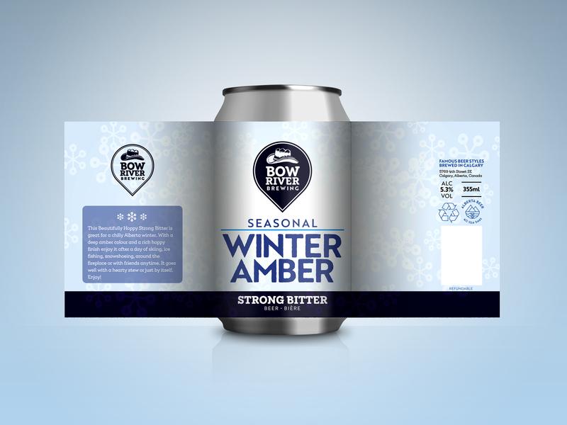 Craft beer can design - Strong Bitter brewery winter amber seasonal bitter winter packaging vector label brand identity beer can beer design branding