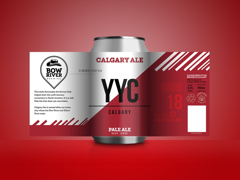 Craft beer can design - Pale Ale brewery pale ale yyc canada calgary typography brand identity packaging beer beer can label vector design branding
