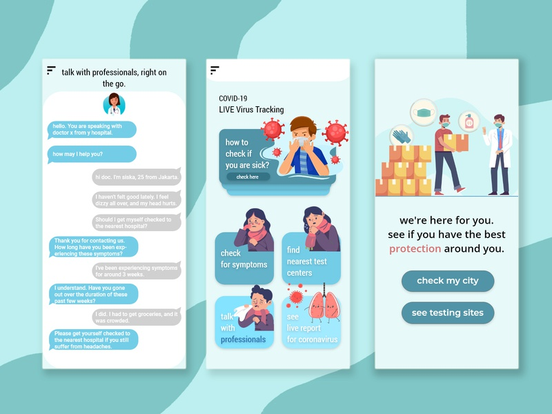 #dailyui - corona relief app mockup uidesign uxdesign web design design minimal illustration ux ui flat app