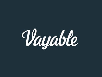 Vayable Logotype 2.0 logo brand script type design identity logotype