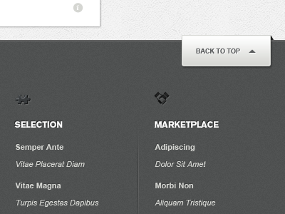 Footer footer ui web app button icon site map
