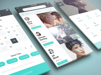 StyleSeat Mobile Revamp ui ux product sf styleseat booking beauty haircut massage wellness brand identity