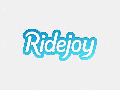 Ridejoy logo logo logotype brand script