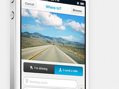 Ridejoy iPhone app iphone app ui ux interface mobile