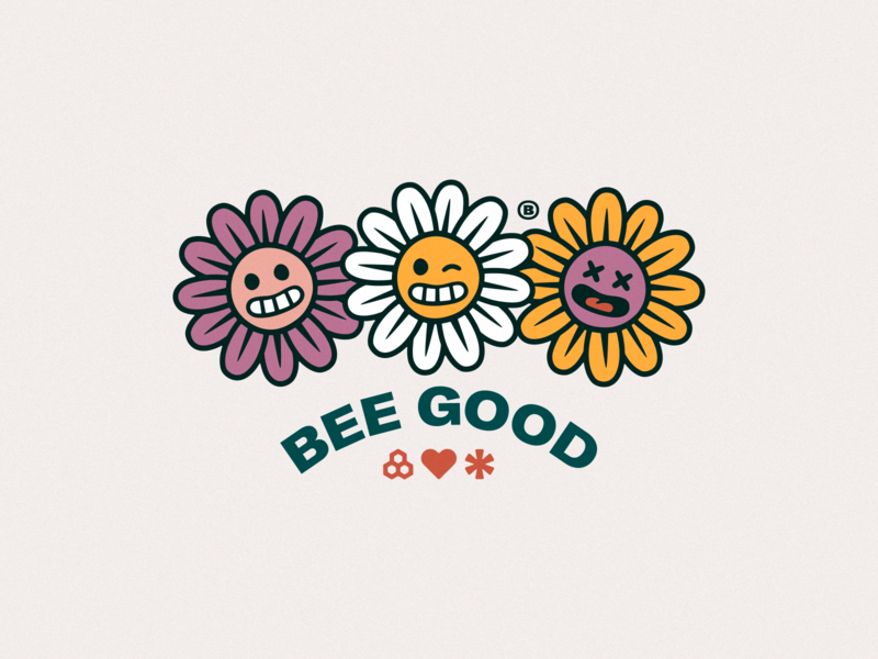 BEE BOUNTIFUL emotions joy shy dead wink flowers together optimism kindness honeycomb home heart happy good bee bees