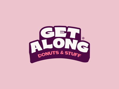 Get Along Wordmark happy type typography branding small business colorful tampa joy bright local donut shop sweet donuts wordmark