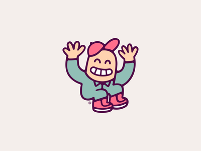 Get Along Gus character illustration pastry small business colorful tampa local joy sweet branding donut shop donuts smiles boy happy