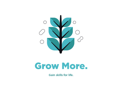 Plant Based progression business steps life skills grow plant blue