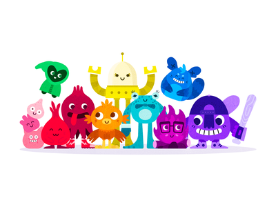 The World of Wee mythology mythical fantasy story create branding church vector flat animals cute kids children cartoon monster monsters illustration creatures character design characters