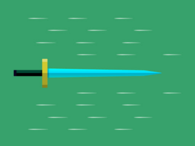 Sword in Motion motion adobe illustration graphics design vector gaming