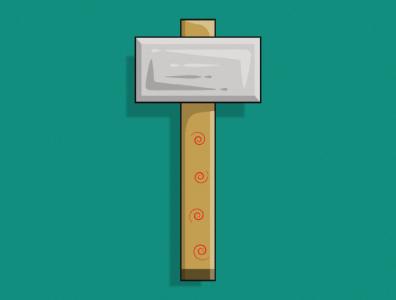 Hammer vector flatdesign simple illustration creative concept art cartoon hammer photoshop graphicsdesign gaming sticker concept illustrator illustration graphics design vector adobe