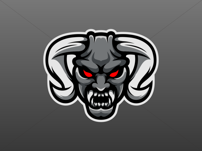 Demon design demon esports logo esports gaming logo vector illustration icon character art