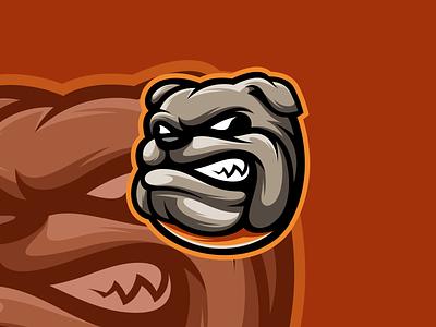 DOG gaming esports branding logo design vector illustration icon character art