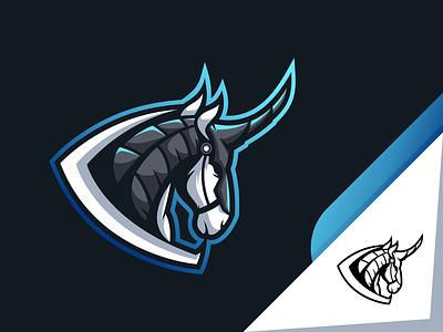 War Horse esports logo logo esports icon branding design vector illustration character art