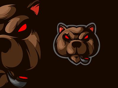 Bad Bear bear mascot logodesign animal art gaming esports logo design illustration icon character art