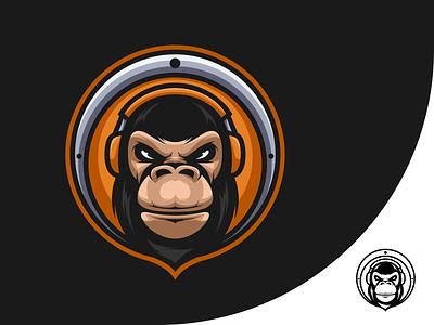 Rilla Music clubbing animal headset club night music club gaming esports branding logo vector design icon illustration character art