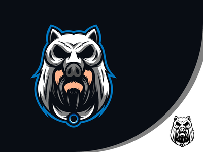 The Hunter head gaming esports logo mascot animal art logo vector design illustration icon character art