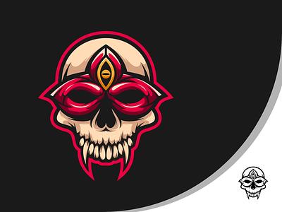 skull mask esports animal art branding logo vector design illustration icon character art